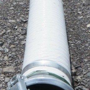 TUYAU FLEXIBLE 3m DIAM 200 AVEC RACCORDS PERROT