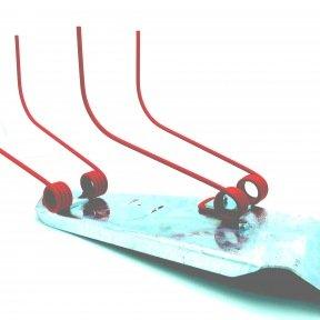 Kit 2 ETRILLES 50600021+ 2 BRIDES  80202686 + SUPPORT PEB0251 + RENFORT PEB026